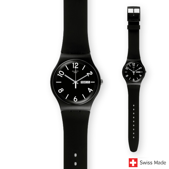 Swatch Originals Backup Black SUOB715
